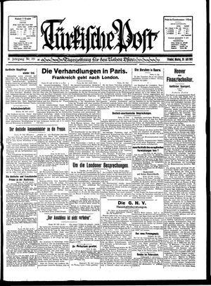 Türkische Post vom 20.07.1931