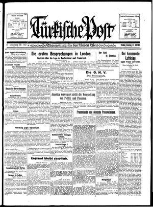 Türkische Post vom 21.07.1931