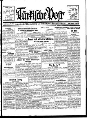 Türkische Post vom 22.07.1931