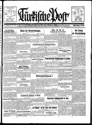 Türkische Post vom 26.07.1931