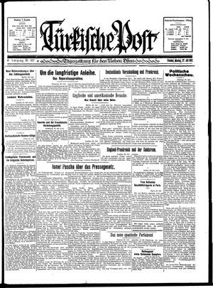 Türkische Post vom 27.07.1931