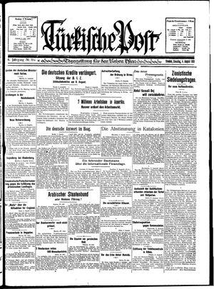 Türkische Post vom 04.08.1931