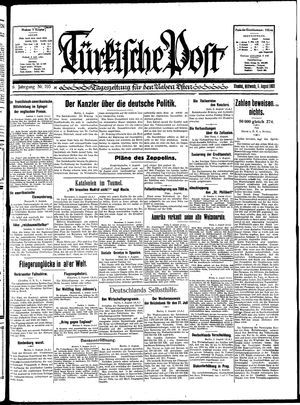 Türkische Post vom 05.08.1931