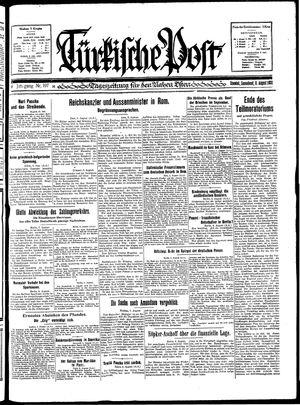 Türkische Post vom 08.08.1931
