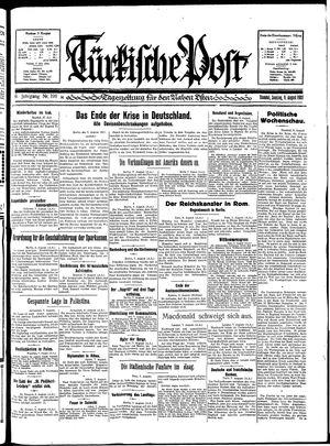 Türkische Post vom 09.08.1931