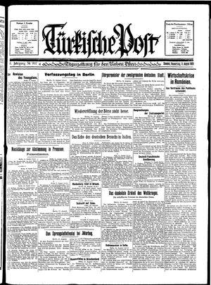 Türkische Post vom 13.08.1931