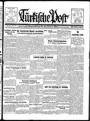 Türkische Post vom 15.08.1931