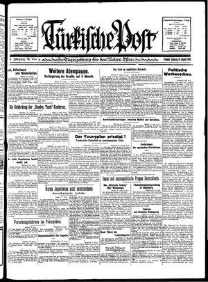 Türkische Post vom 16.08.1931