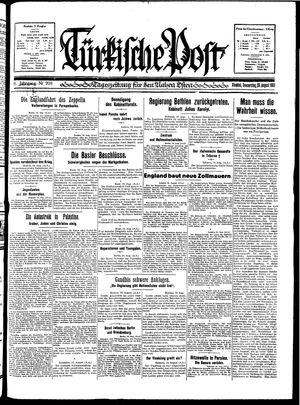 Türkische Post vom 20.08.1931