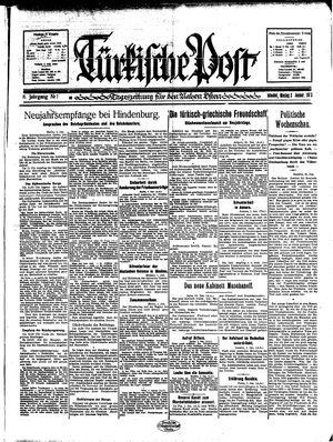 Türkische Post on Jan 2, 1933