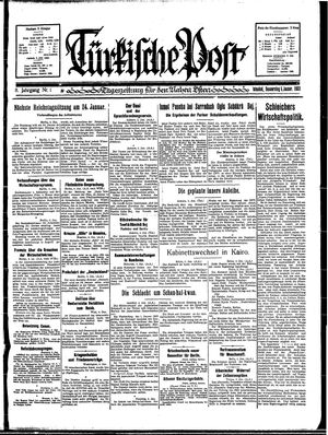 Türkische Post vom 05.01.1933