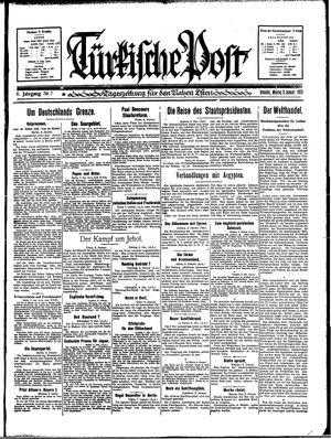 Türkische Post vom 09.01.1933