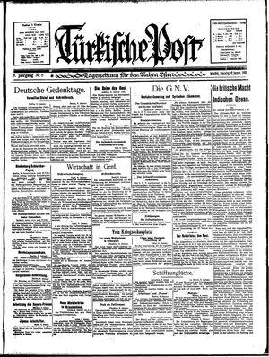 Türkische Post vom 10.01.1933