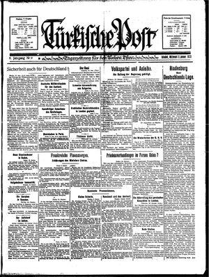 Türkische Post vom 11.01.1933