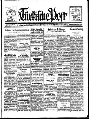 Türkische Post vom 12.01.1933