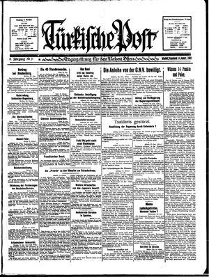 Türkische Post vom 14.01.1933