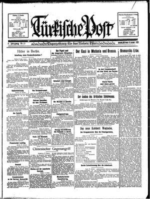 Türkische Post vom 18.01.1933