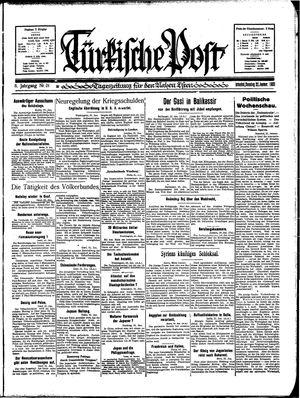 Türkische Post on Jan 22, 1933