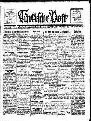 Türkische Post vom 24.01.1933