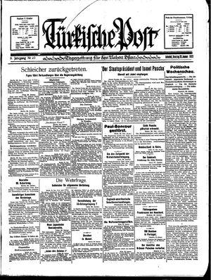 Türkische Post vom 29.01.1933