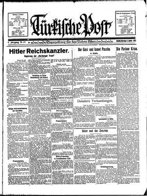 Türkische Post vom 31.01.1933