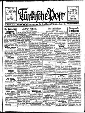 Türkische Post vom 02.02.1933
