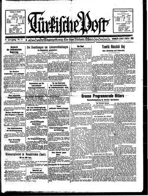 Türkische Post vom 11.02.1933