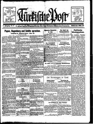 Türkische Post vom 12.02.1933