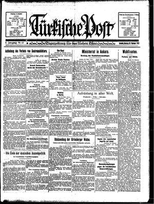 Türkische Post vom 20.02.1933