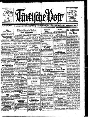 Türkische Post vom 21.02.1933
