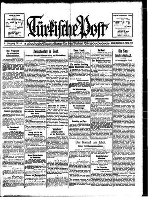Türkische Post vom 23.02.1933