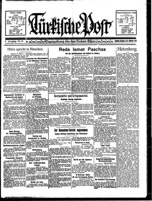 Türkische Post vom 25.02.1933