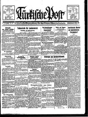 Türkische Post vom 28.02.1933