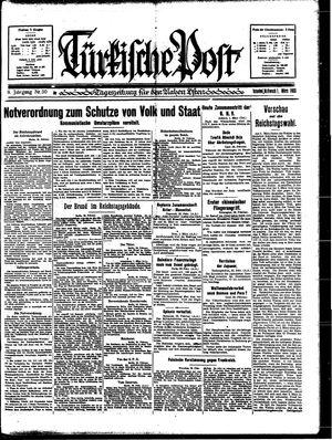Türkische Post vom 01.03.1933