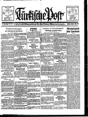 Türkische Post vom 07.03.1933