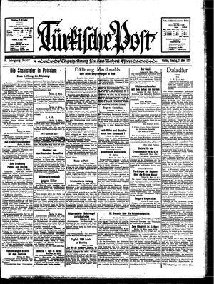 Türkische Post vom 21.03.1933
