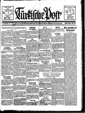 Türkische Post vom 27.03.1933