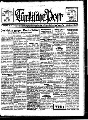Türkische Post vom 29.03.1933