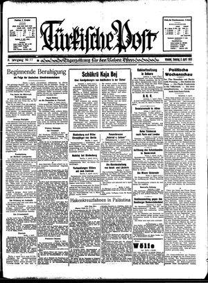 Türkische Post vom 02.04.1933