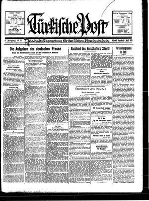 Türkische Post vom 08.04.1933