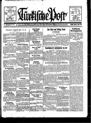 Türkische Post vom 09.04.1933