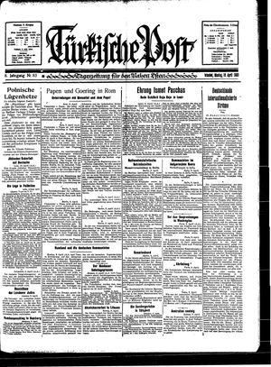 Türkische Post vom 10.04.1933