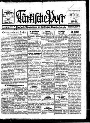 Türkische Post vom 18.04.1933