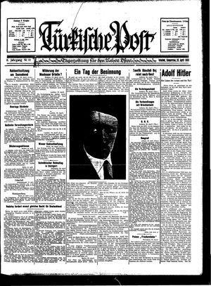 Türkische Post vom 20.04.1933