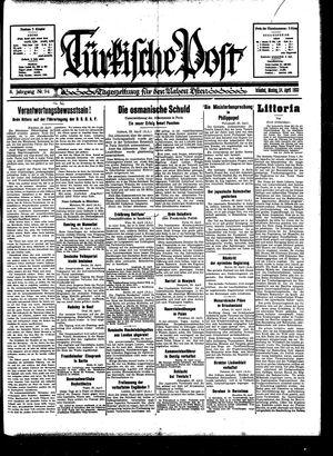 Türkische Post vom 24.04.1933