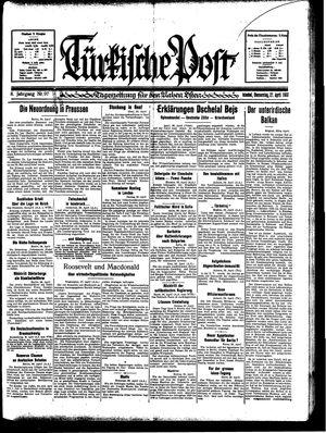 Türkische Post vom 27.04.1933