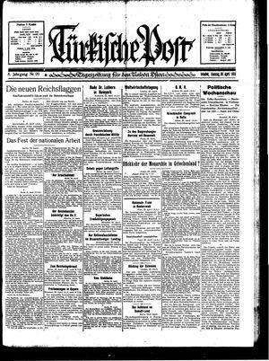 Türkische Post vom 30.04.1933