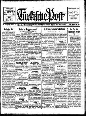 Türkische Post vom 01.05.1933