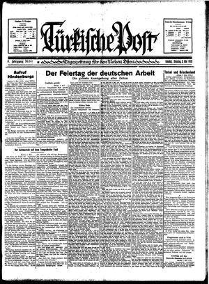 Türkische Post vom 02.05.1933