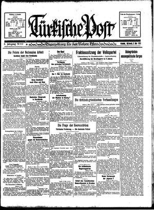 Türkische Post vom 03.05.1933